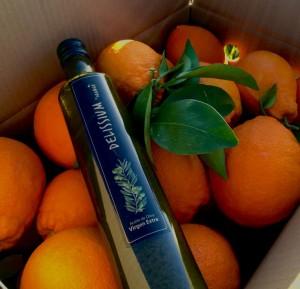 Comprar naranjas y aceite